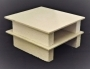 Set Of 2 Ceramic Shelves & 4 Stands: R-1050, R-1100 & R-1300